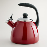 Garnet Enamel-on-Steel Tea Kettle - World Market