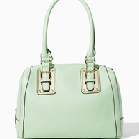 Lizeth Plated Buckle Satchel | Handbags | charming charlie