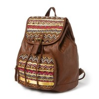 Sierra Faux Leather Beaded Backpack  | Icing