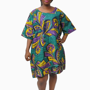 Oversized Melowa Dress - African Print Dress - Ankara Over sized Dress