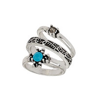 Engraved Star Bead Ring - Sale  - Sale & Offers