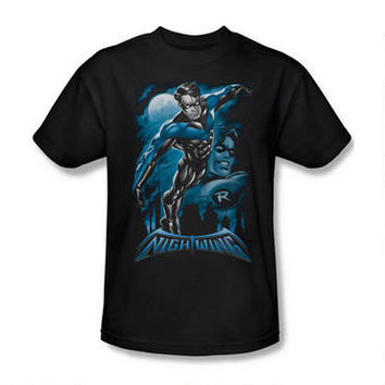 Nightwing All Grown Up Adult Black T-Shirt |