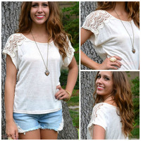 St. Lucia Cream Lace Top