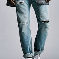 Bullhead Denim Co. Washington Destroyed Slim Jeans - Mens Jeans - Antique Light Indigo