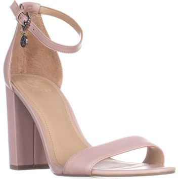 Guess Bamboo Ankle Strap Heeled Sandals, Light Pink, 8.5 US