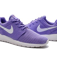"""Nike Roshe Run BR"" Women Sport Casual Honeycomb Net Cloth Breathable Sneakers Running Shoes"