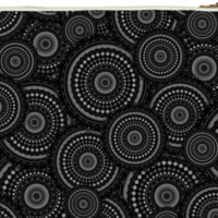 Black and White Mandala Pattern Clutch Bag created by HippyGiftShop | Print All Over Me