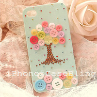 iPhone 4 Case, iPhone 4s Case, iPhone 5 Case, Bling iPhone 5 Case, Unique iphone 4 case, Cute iphone 4 case, bling iphone 4 case button tree