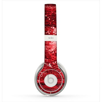The Red Grunge Paint Splatter Skin for the Beats by Dre Solo 2 Headphones