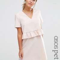 ASOS PETITE Short Sleeve Double Layer Ruffle Dress