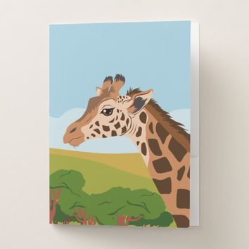 Giraffe Pocket Folder