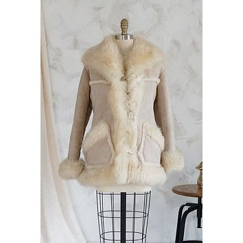 Genuine Sheepskin + Natural Shearling Coat