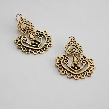 Millicent Gold Deco Earrings | Ruche