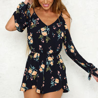 All Smiles Playsuit Navy