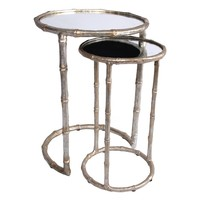 Bliss Studio Cane Nesting Accent Tables Set of 2