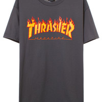 FLAME LOGO T-SHIRT | @Thrasher | VFILES SHOP