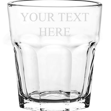 Customized 3D Laser Engraved Personalized Whiskey Scotch Custom Glass