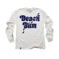 Beach Bum: Organic Fine Jersey Long Sleeve Top in Unbleached Natural