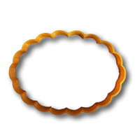 Scalloped Oval Cookie Cutter