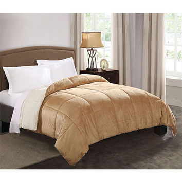 Pem America CF8665CMQN-1600 Micro Mink Camel Reversible Queen Comforter - (In No Image Available)