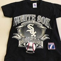 VINTAGE YOUTH CHICAGO WHITE SOX EARLY 90S BLACK LOGO 7 TEE SHIRT