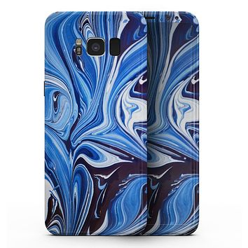 Blue and White Blended Paint - Samsung Galaxy S8 Full-Body Skin Kit