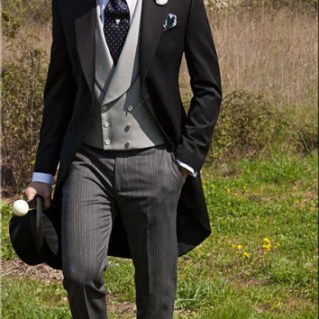 Double Breasted Groom Tuxedo with Tail