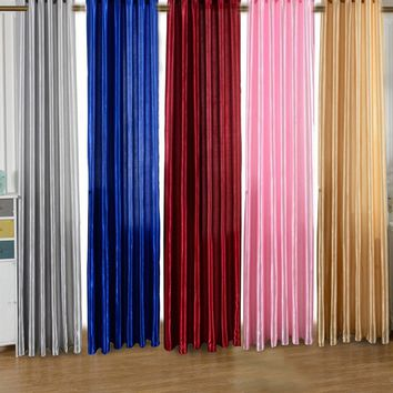 10 Color Solid Polyester Window curtains Textile Design Half Curtain Divider Beads Door Decoration