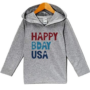 Custom Party Shop Kid's Happy Bday USA 4th of July Hoodie Pullover