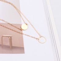 Gift Shiny New Arrival Jewelry Korean Stylish Simple Design Strong Character Double-layered Alloy Necklace [9377823815]