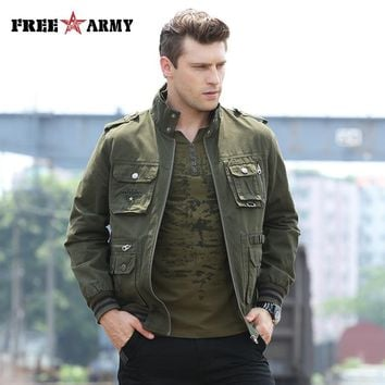 FREEARMY Brand Quality Jacket Men Military Jacket Windproof Army Flighting Wind Stopper Wind Bomber Jacket Men Ms-6280A