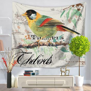 Oil Painting Single Bird Printing Picture Tapestry Sandy Beach A Piece Of Cloth Sit Carpet GT1047