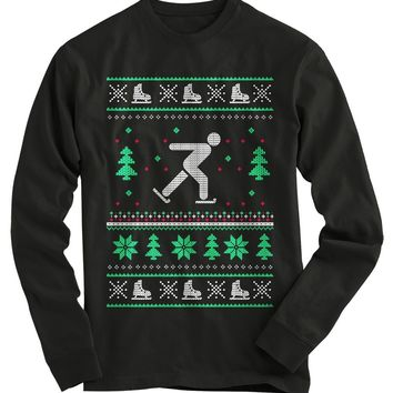 Ice Skating Ugly Christmas Sweater