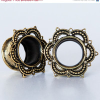 ONSALE 15% OFF Brass Tunnel - Piercing Tunnel - Ear Tunnel - Brass Plugs - Brass Tunnels - Ear Plugs - Piercing Plugs - Ear Gauges