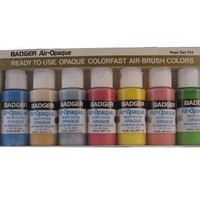 Badger Air-Brush Company Air-Opaque Airbrush Ready Water Based Acrylic Paint, Pearl, 1-Ounce Each, Set of 7