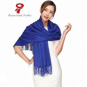 ESBU3C Scarf Long Wool Cashmere Scarf big size  cape female Winter Luxury Brand Spring Autumn Wrap Thicken Warm pashmina Shawl