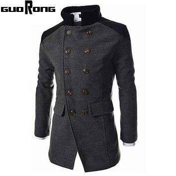Men's cloak Trench Coat Men Autumn Winter Double Breasted Men Outerwear Casual Coat Men's Jackets Windbreaker Mens Trench Coat