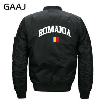 Trendy GAAJ Romania Flag Jackets Men Print Casual Jacket Militar Clothes Warm Windbreaker Military Style For Male Bomber Pilot  #33KLJ AT_94_13