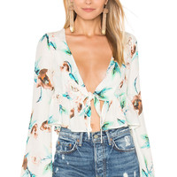 STONE_COLD_FOX Anja Crop Top in Ivory Cosmo