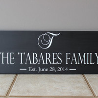 Personalized Family Name Sign <3