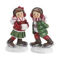Holly  Noel Skating Figurines