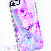 The Magic Kingdom Pastel Kawaii Cat Unicorn iPhone Case - iPhone 5/5s iPhone 6 plastic clear case space cats castle magical