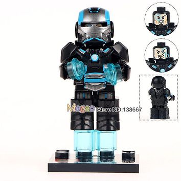 Building Brick Single Sale MG0003 Custom Armored Iron Man Suit War Machine Inspired Super Heroes Christmas Toys For Children
