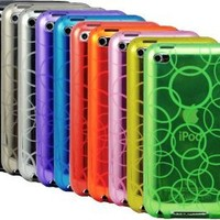 The Friendly Swede Basics - Bundle of 10 Bubble Design TPU Gel Cases + 1 Microfiber Cloth for Apple iPod Touch 4 4G 4th