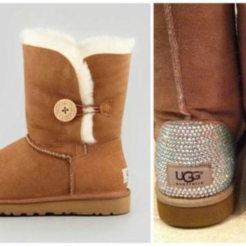 CREY1O Swarovski Crystal Embellished Bailey Button UGG Boots - Winter/Holiday 2013