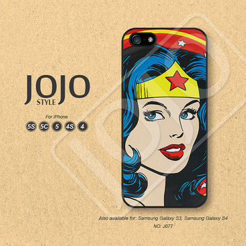 iPhone 5 Case, iPhone 5c Case, iPhone 4 Case, iPhone 5s Case, iPhone 4s Case, Wonder Woman, Phone Cases, Phone Covers - J077
