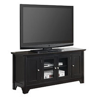 Black Carver TV Console