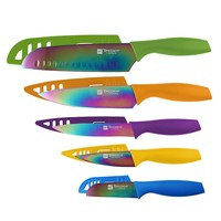 Hampton Forge Tomodachi 10-pc. Knife Set (Orange/Purple/Green)