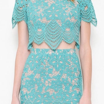 Ferrari Lace Two-Piece Dress (more colors)