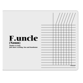 Funcle - Fun Uncle Chore List Grid Dry Erase Board by TooLoud